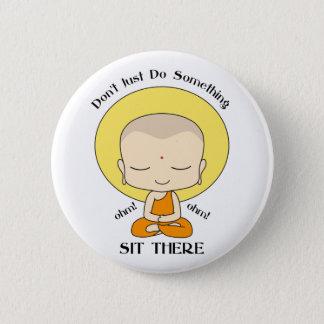 Meditation Yoga Buddhist Monk 2 Inch Round Button