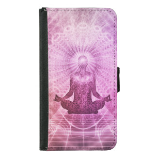 Meditation Yoga Faith Samsung Galaxy S5 Wallet Case