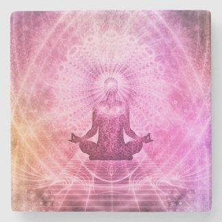 Meditation Yoga Faith Stone Coaster