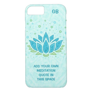 Meditation Yoga Lotus Flower Zen | Text Template iPhone 8/7 Case