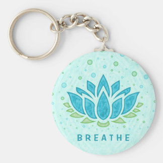 Meditation Yoga Lotus Flower Zen | Text Template Keychain