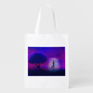 Meditation Yoga Reusable Grocery Bag