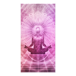 Meditation Yoga Style Photo Greeting Card