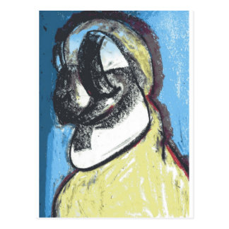 Meditative Avian Postcard