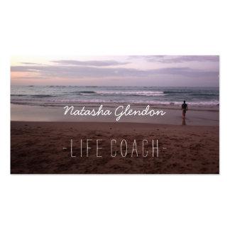 Meditative Beach Scene Life Coach Business Card