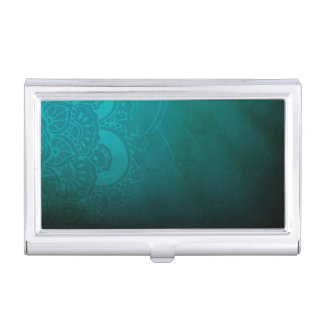Meditative Turquoise Blue Zen Business Card Holder