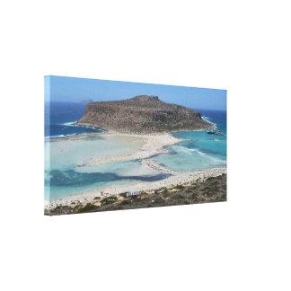 Mediterranean Balos Lagoon Beach Canvas Print