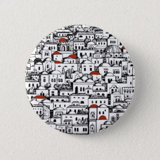 Mediterranean City 2 Inch Round Button