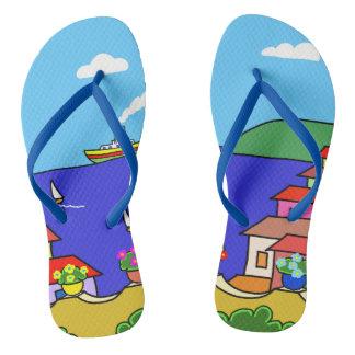Mediterranean Holiday Flip Flops