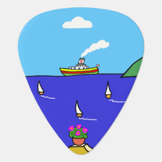 Mediterranean Holiday Guitar Pick