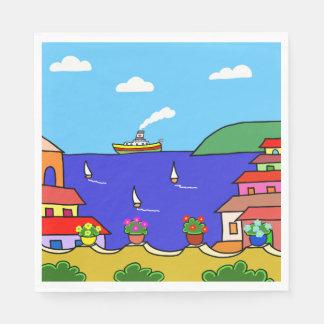 Mediterranean Holiday Paper Napkin