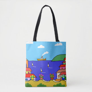 Mediterranean Holiday Tote Bag