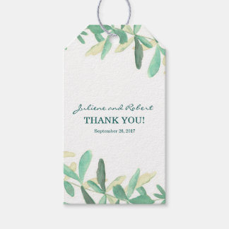 Mediterranean  | Modern Foliage Wedding Favour Tag Pack Of Gift Tags