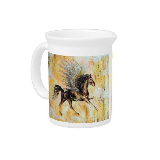Mediterranean Pegasus Beverage Pitcher