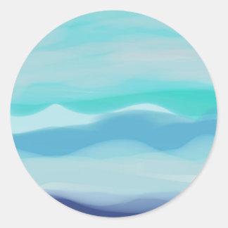 Mediterranean Round Sticker