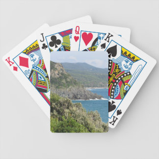 Mediterranean sea along Tuscan coastline Bicycle Playing Cards