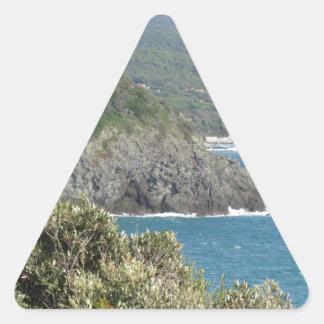 Mediterranean sea along Tuscan coastline Triangle Sticker