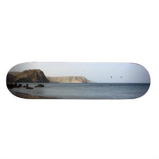 Mediterranean Sea and beach the Blacks, photograph Skate Deck