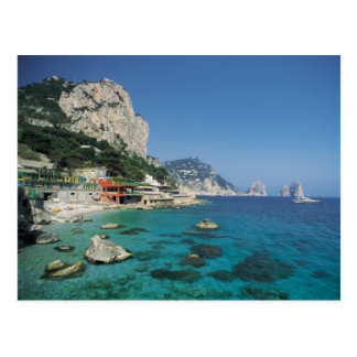 Mediterranean Sea Coast Beach of Italy Postcard