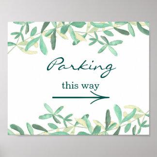 Mediterranean | Wedding Parking Sign Poster