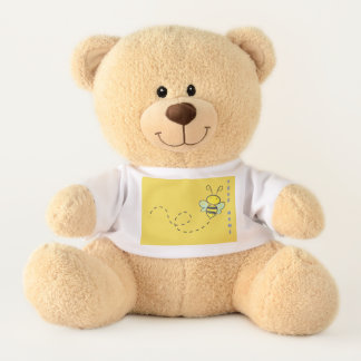 "Medium 17"" Sherman Teddy Bear FLYING BEAR"