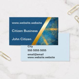 Medium blue and Tribal mandala 3 business card
