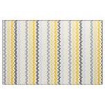 Medium Chevron Stripes Yellow Grey Fabric