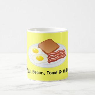 Medium Coffee Cup- Eggs, Bacon, Toast & Coffee Coffee Mug