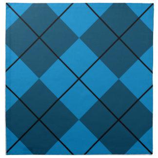 Medium & Dark Blue Argyle Napkin