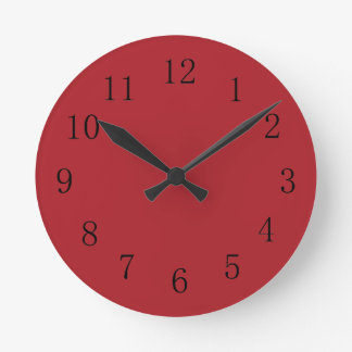 Medium Dark Upsdell Red Kitchen Wall Clock