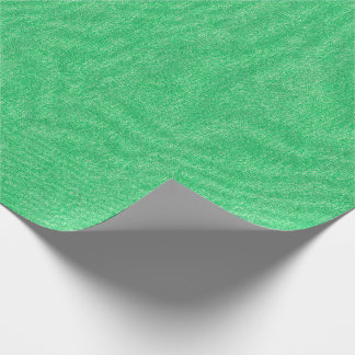 Medium Green Denim Texture Wrapping Paper