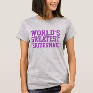 Medium Orchid World's Greatest Bridesmaid T-Shirt