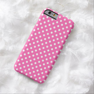 Medium Pink Fine Polka Dot iPhone 6 case Barely There iPhone 6 Case