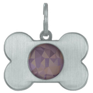 Medium Purple Abstract Low Polygon Background Pet ID Tag