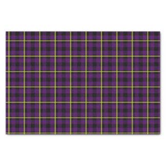 Medium Purple & Yellow Tartan Tissue Paper