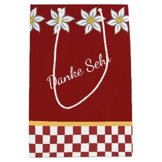 Medium Red Edelweiss Gift Bag