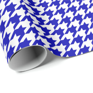 Medium Royal Blue and White Houndstooth