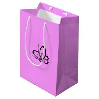 Medium shade cherry tree flying butterfly medium gift bag