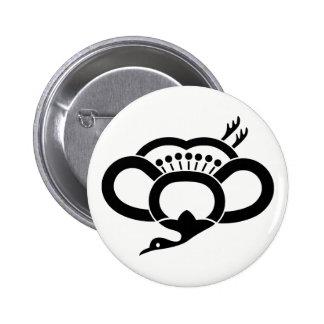 Medium shade plum crane 2 inch round button