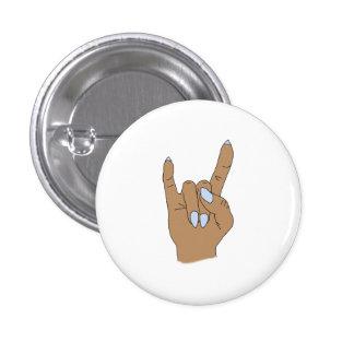 Medium Skin Rock On Round Fashion Button