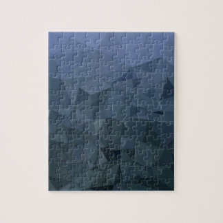 Medium Slate Blue Abstract Low Polygon Background Jigsaw Puzzle