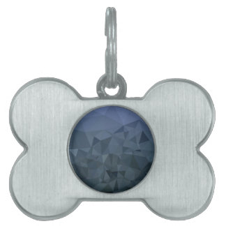 Medium Slate Blue Abstract Low Polygon Background Pet Name Tag