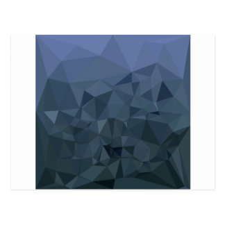 Medium Slate Blue Abstract Low Polygon Background Postcard