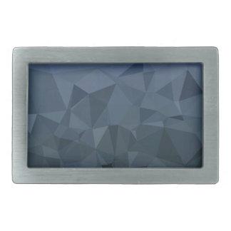 Medium Slate Blue Abstract Low Polygon Background Rectangular Belt Buckle