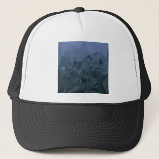 Medium Slate Blue Abstract Low Polygon Background Trucker Hat