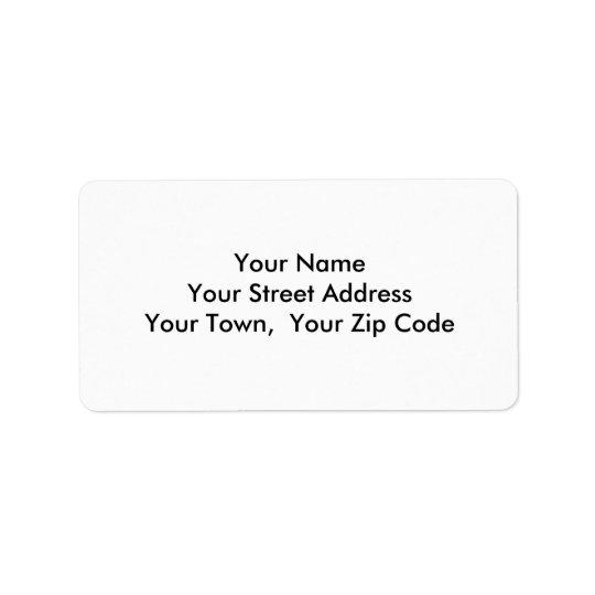 Medium Template Return Address Personalized Labels