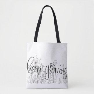 Medium Tote- Keep Growing Tote Bag
