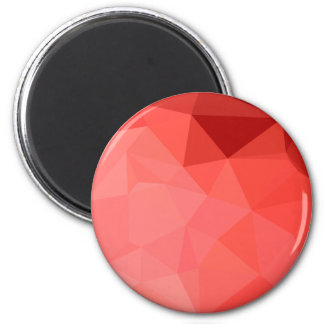Medium Violet Red Abstract Low Polygon Background 2 Inch Round Magnet
