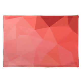 Medium Violet Red Abstract Low Polygon Background Placemat
