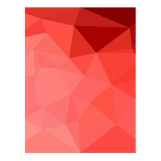 Medium Violet Red Abstract Low Polygon Background Postcard